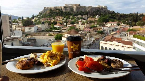 A for Athens: Acropolis - View from restaurant