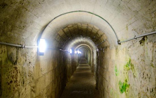 Inside the walls of Fort Hamilton, Bermuda.