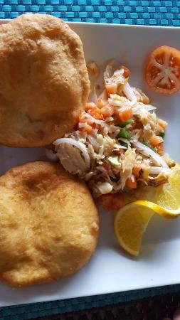 Speyside, Tobago: a local breakfast