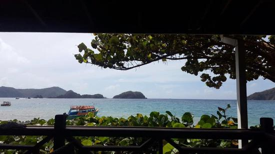 Speyside, Tobago: view from the restaurant