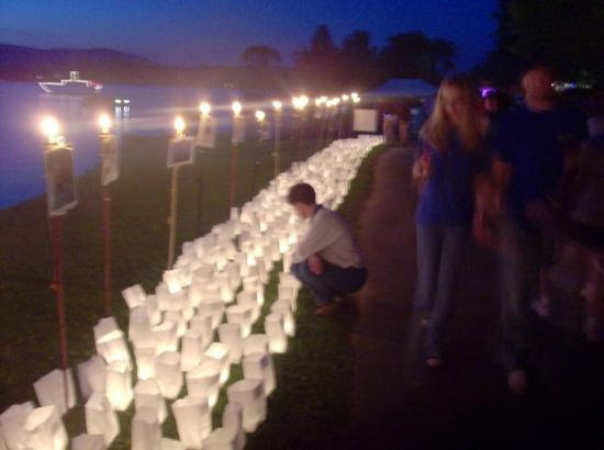 Pittsfield, MA: Relay for life, at Onota Lake