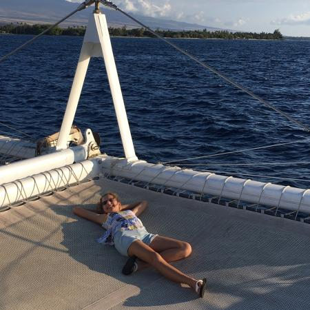 Waikoloa, Hawái: Perfect Sunset on Hawaii Ocean Sorts boat