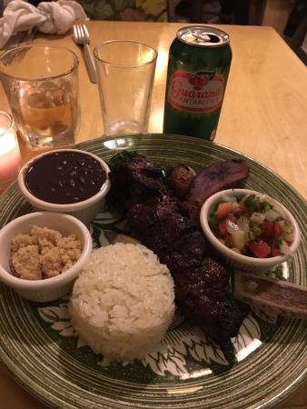WoodSpoon: Steak with rice and beans!