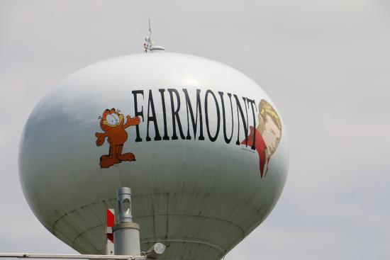 City water tower -home of JD and the creator of Garfield -both from Fairmount