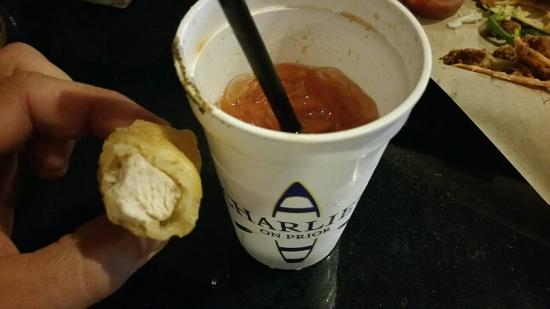 Prior Lake, MN: Chicken pickle with your bloody mary....the Charlies way!