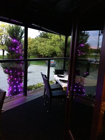 Andiamo Italian Bistro: Lovely Purple Lights On The Patio