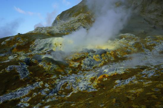 Whakatane, Nieuw-Zeeland: White Island - Sulfur area