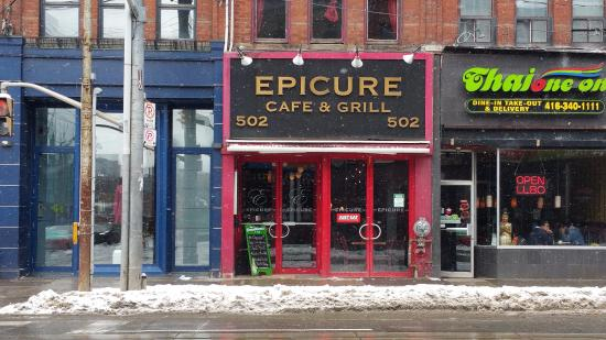 storefront for epicure cafe and grill picture of the epicure cafe