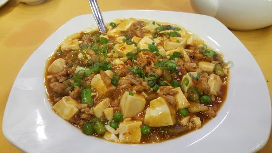 Ma Po Tofu $12.95 Spicy bean curd with minced pork & chili ...