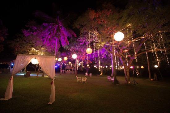Belmond Napasai Secret Garden Wedding Dance Venue