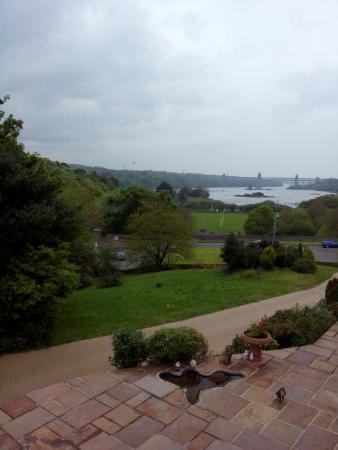 Menai Bridge, UK: View from Four poster room