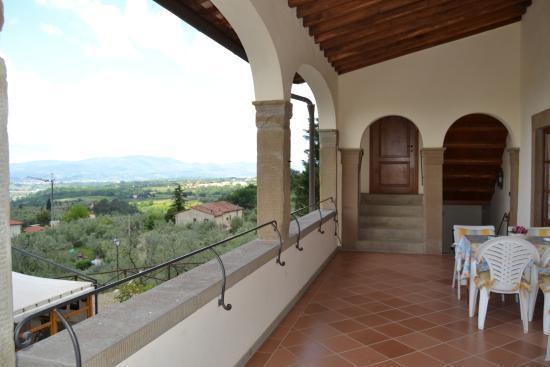 Castelfranco di Sopra, Italien: loggiato superiore