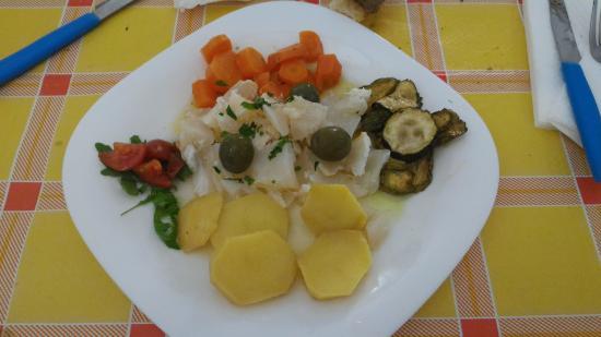 Da Vittorio Presto e Bene : Baccalà all'insalata con verdure miste griglate