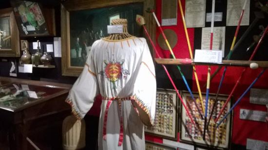 The Museum of Witchcraft: Uniform from The Golden Dawn, Museum of Witchcraft Boscastle, Cornwall UK