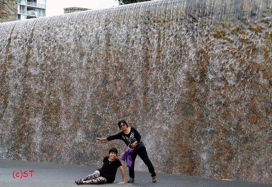 roma street parkland water wall