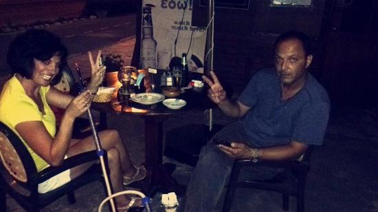Pervolia, ไซปรัส: Our happy customers enjoying Shisha!!!