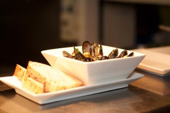 Braunton, UK: Exmouth mussels