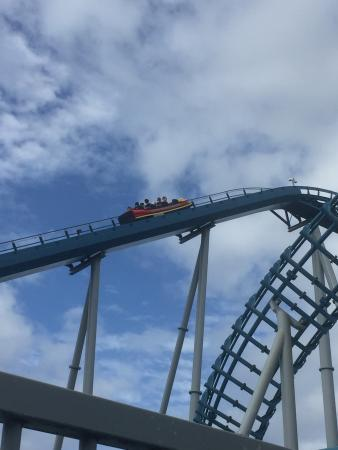 Main Beach, Australia: The huge roller coaster