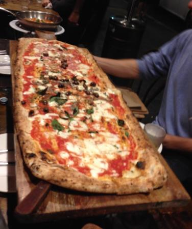 metre long pizza picture of via napoli pizzeria lane. Black Bedroom Furniture Sets. Home Design Ideas