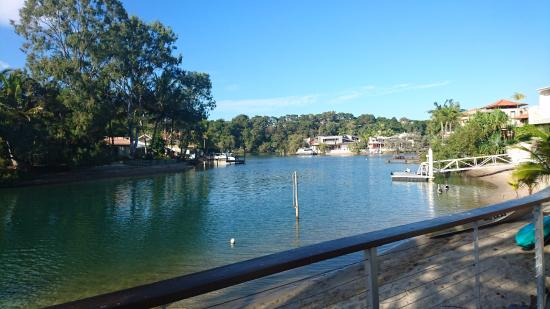 Caribbean Noosa: The peaceful canal right off the front of the unit.