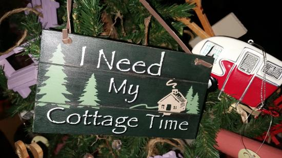 Cottage Place on Squam Lake: Cute signs in our Cottage Goods Gift Shop