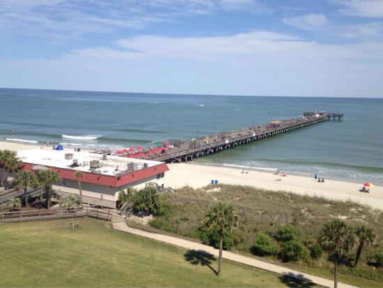 View Of Springmaid Pier From Beach Resort S Live Oak Building