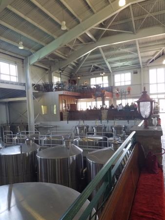 Sainte Genevieve, MO: Inside winery, heading towards tasting area