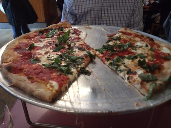 John's of Times Square: large pizza