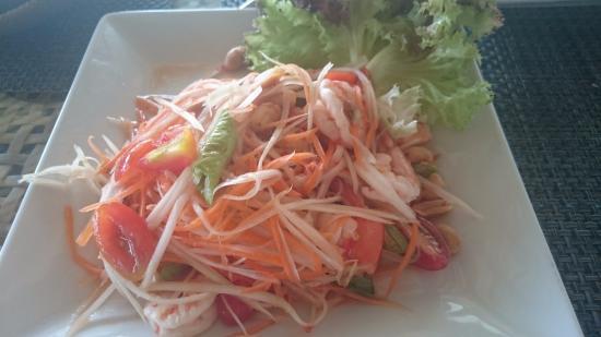 Laem Set, Thailand: papaya salad