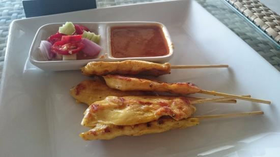 Laem Set, Thailand: satay chicken skewers