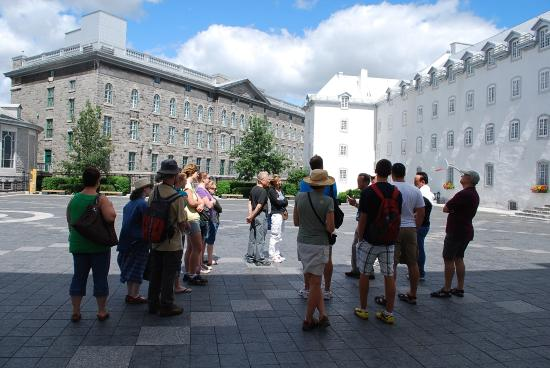 Tours Voir Quebec: In the courtyard of the Seminary in Old Quebec City