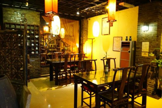 Pure Lotus Vegetarian Restaurant: The restaurant setting