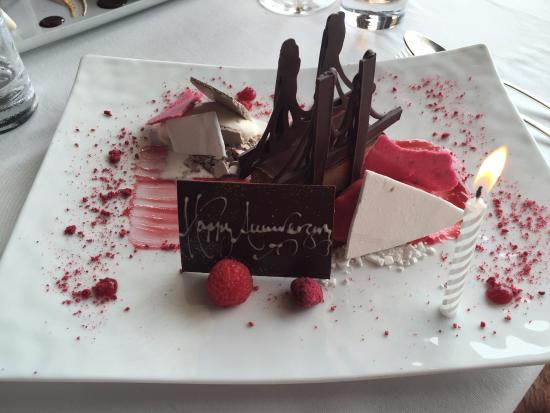 The River Cafe: raspberry and Chocolate Parfait