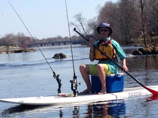 Wisconsin Rapids, WI: Fish as you Stand Up Paddleboard