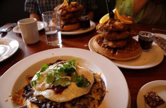 Beau Screen Door Chicken U0026 Waffles And Huevos Rancheros. Delicious!