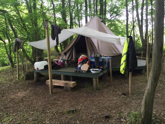 Horsted Keynes, UK: Tents are comfortable and spacious.