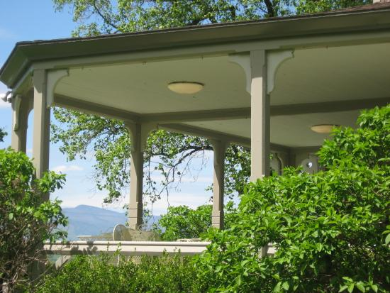 Mount Merino Manor: There are gorgeous views of the Catskills and Hudson River from the front porch.