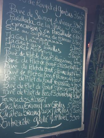 Cafe De La Gare Djibouti Menu