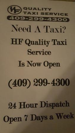 Galveston Island, TX: For reservations give us a call. www.hfprivatetransport.com