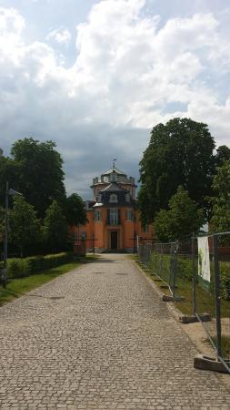 Waghausel, Germany: Eremitage und Silos der alten Zuckerfabrik