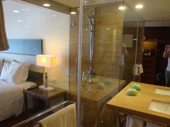 Shower in bedroom design