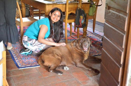 Paciano, Italia: With their Lovely Dog
