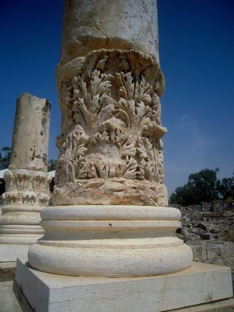 Beit She'an, Israel: hundreds of intricate carved marble pillars