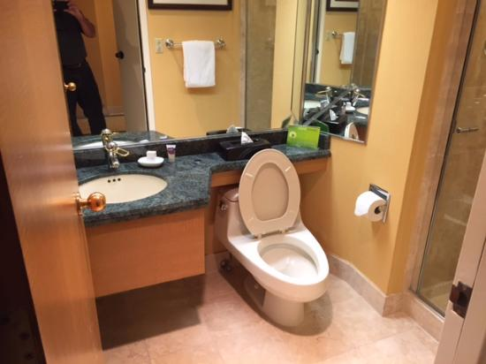 Stateline, NV: One of two bathrooms in the Deluxe King Bedroom