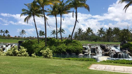 Waikoloa, HI: The grounds before you get to the beach is gorgeous