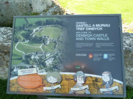 Denbigh Castle information panel