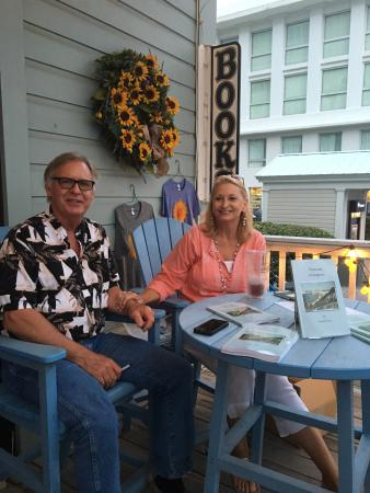 Sundog Books: Saturday evening at Sundog! Book signing by local author, Garrett Horn, with wife, Nina.