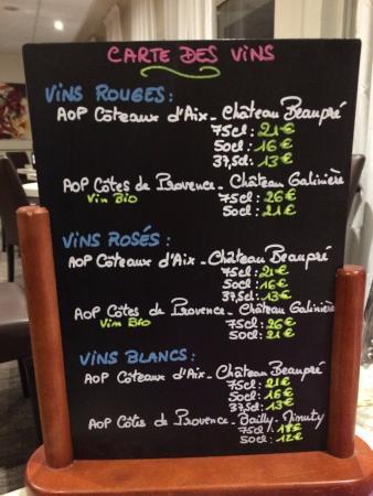 Fuveau, Francia: carte des vins