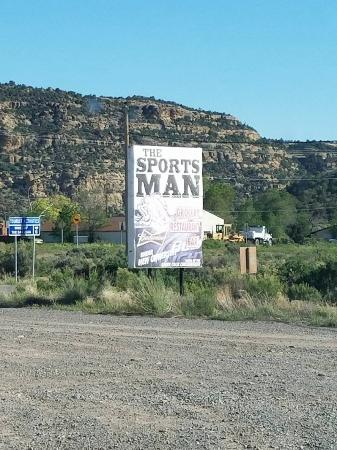 Navajo Dam, Nowy Meksyk: The sign by the road.