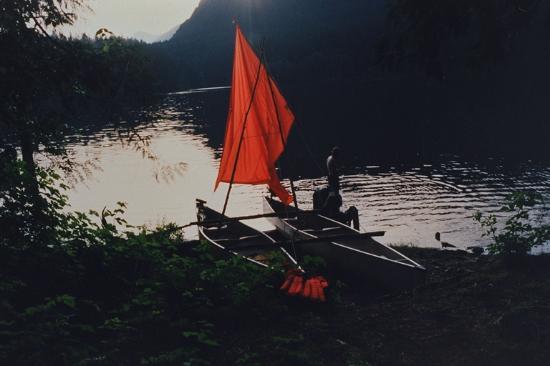 Powell River, Canada: Canoe Sailing